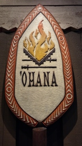 'Ohana sign at Polynesian Resort