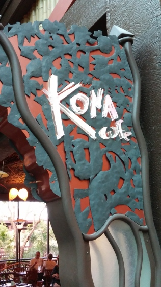 Kona Café sign at Polynesian Resort