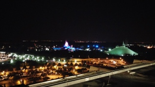 Magic Kingdom at night from California Grill balcony