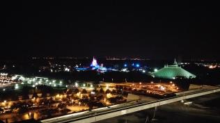 Magic Kingdom at night from California Grill balcony