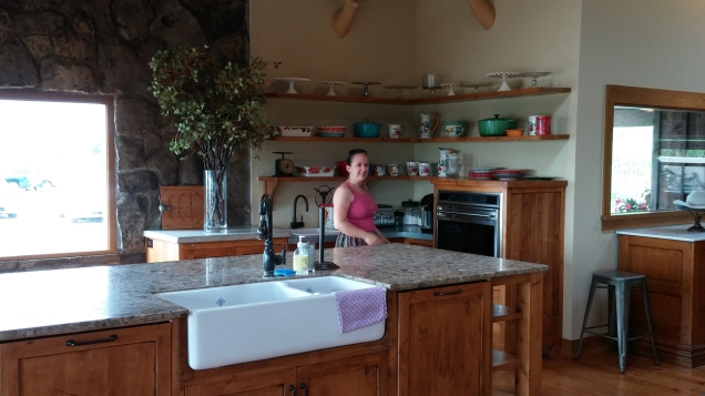 Isabelle in Pioneer Woman's kitchen