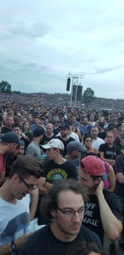 The crowd behind us