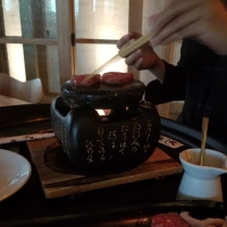 my wagyu being cooked