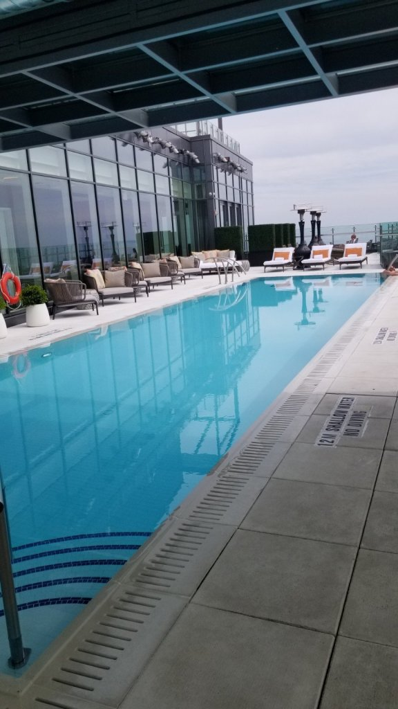 Rooftop pool at Hotel X